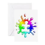 Splat Autism Greeting Cards