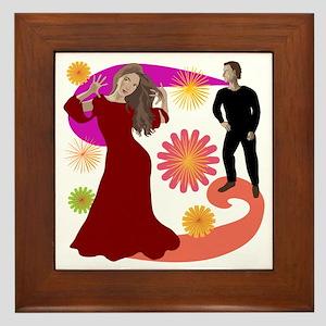 Colorful Bollywood Framed Tile