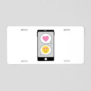 Love Emoji Text Aluminum License Plate