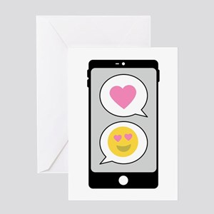 Love Emoji Text Greeting Cards