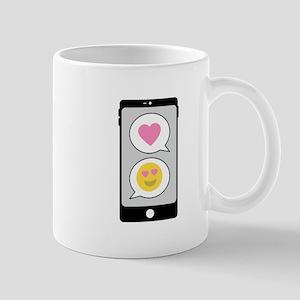 Love Emoji Text Mugs