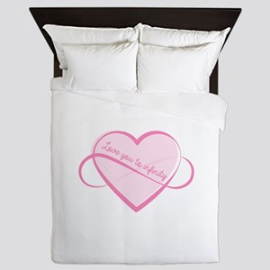 Love To Infinity Queen Duvet