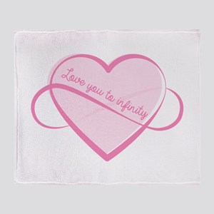Love To Infinity Throw Blanket