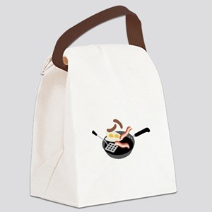 Breakfast Food Canvas Lunch Bag