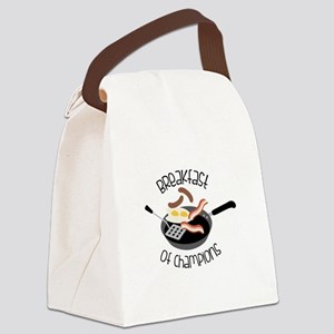 Breakfast Of Champions Canvas Lunch Bag