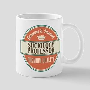 sociology professor vintage logo Mug