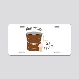 Homemade Ice Cream Aluminum License Plate