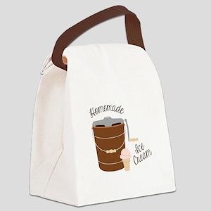 Homemade Ice Cream Canvas Lunch Bag