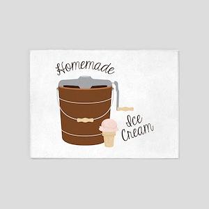 Homemade Ice Cream 5'x7'Area Rug