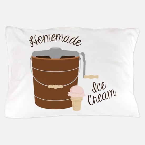 Homemade Ice Cream Pillow Case