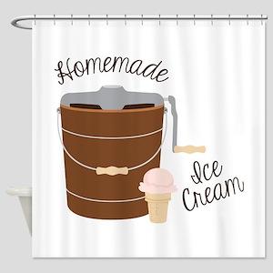 Homemade Ice Cream Shower Curtain