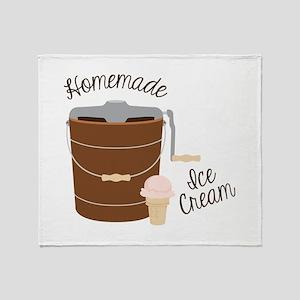 Homemade Ice Cream Throw Blanket
