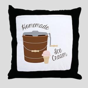 Homemade Ice Cream Throw Pillow