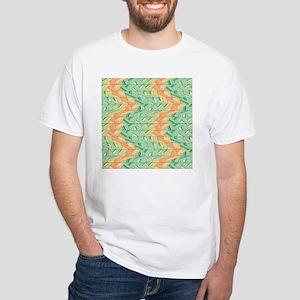 Emerald and salmon pattern T-Shirt