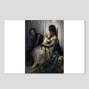 gustav dore circus art Postcards (Package of 8)