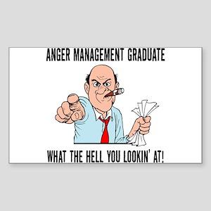 Anger Management Graduate Rectangle Sticker