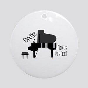 Piano Practice Round Ornament