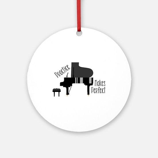 Piano Practice Round Ornament