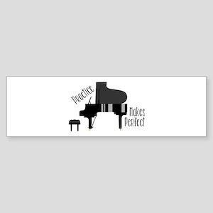 Piano Practice Bumper Sticker