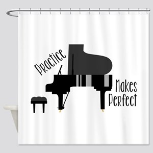 Piano Practice Shower Curtain