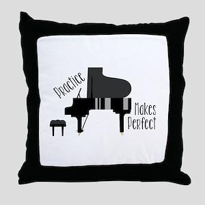 Piano Practice Throw Pillow