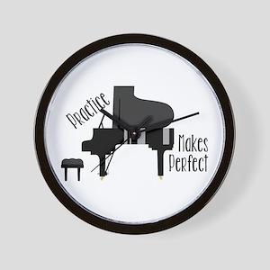 Piano Practice Wall Clock