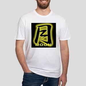 moon japanese kanji Fitted T-Shirt