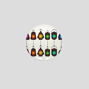Assorted Rainbow Lanterns Mini Button