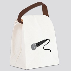 Microphone Canvas Lunch Bag