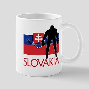 Slovakia Flag Hockey Mugs