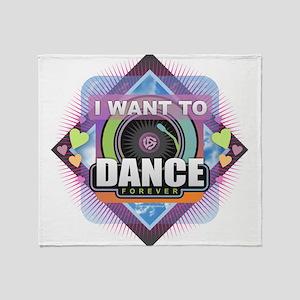 Dance Forever Throw Blanket