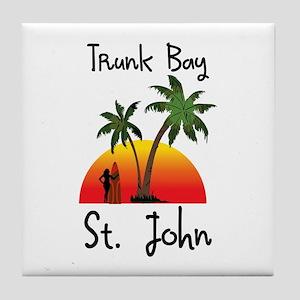 Trunk Bay St. John Tile Coaster