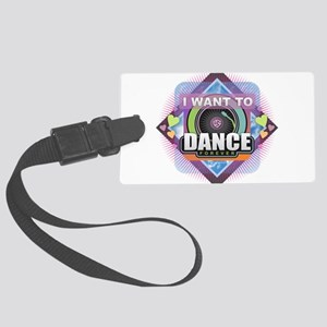 Dance Forever Large Luggage Tag