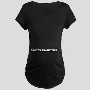 Lost in Transition Maternity Dark T-Shirt