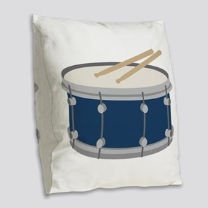 Snare Drum Burlap Throw Pillow