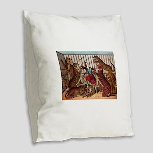 circus art Burlap Throw Pillow
