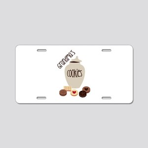 Grandmas Cookies Aluminum License Plate