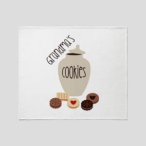 Grandmas Cookies Throw Blanket