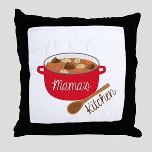 Mamas Kitchen Throw Pillow