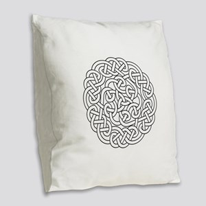 knot 13 Burlap Throw Pillow