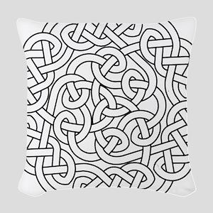 knot 13 Woven Throw Pillow