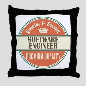 software engineer vintage logo Throw Pillow