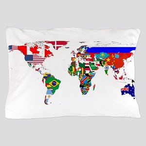 World map bed bath cafepress world map with flags pillow case gumiabroncs Image collections