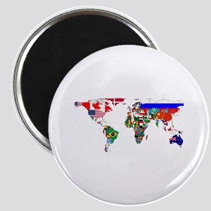 World Map With Flags Magnets