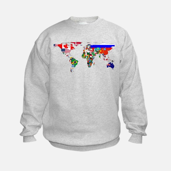 World Map With Flags Sweatshirt