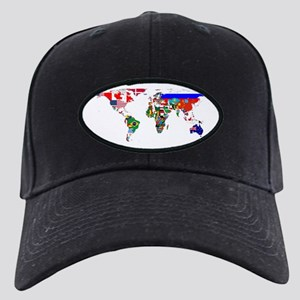 World Map With Flags Baseball Hat