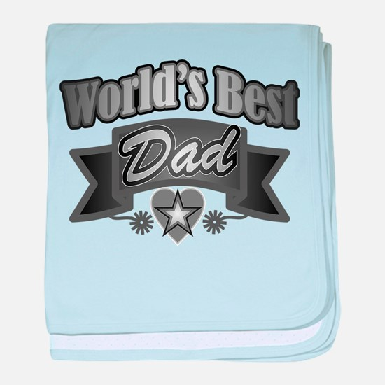 father's day world's best dad baby blanket