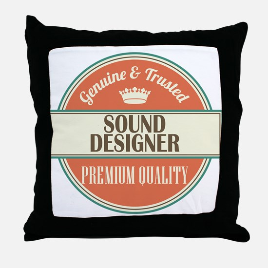 sound designer vintage logo Throw Pillow