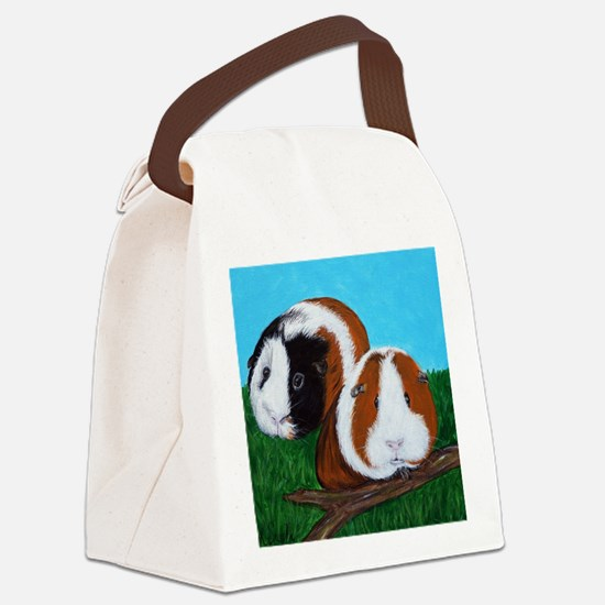 Funny Guinea pig Canvas Lunch Bag