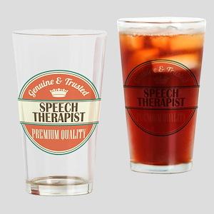 speech therapist vintage logo Drinking Glass